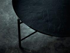 Close-up of SVÄRTAN table