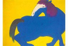 Walasse Ting, Blue Horse on OneKingsLane.com