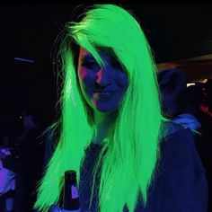 Glow-In-The-Dark Hair Picks Up Where 2015 Wacky Hair Trends Left Off -  #beauty #hair #rave