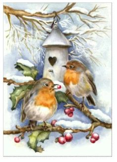 Kreative und Großartige Rotkehlchen im Winter Creative and great robins in winter # robins # winter Christmas Bird, Christmas Scenes, Christmas Animals, Christmas Past, Vintage Christmas Cards, Vintage Holiday, Christmas Pictures, Christmas Berries, Illustration Noel