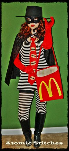 Hamburglar Halloween Costume. So cute!