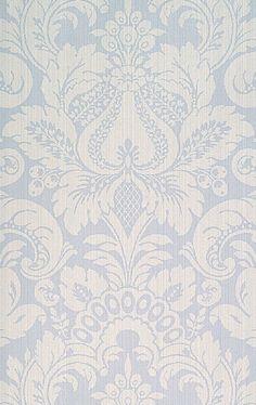 Scalamandre Daphe wallpaper in canton blue