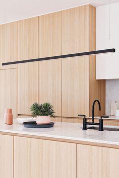 The Beacon Lighting LEDlux Strix 1800mm 2400 lumen LED dimmable pendant in black