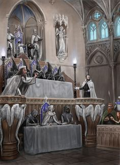 The court of the Silver Flame inquisition in Thaliost.