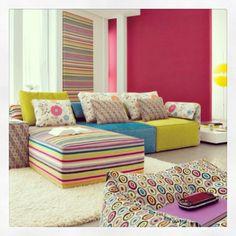 Great idea for a teenage rumpus room