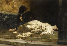 Ferdinand Keller Selene thrown down by Argus, 1886 oil on canvas