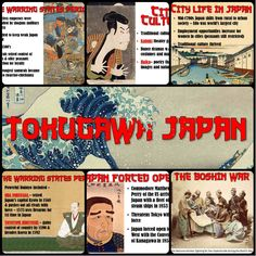 Tokugawa Japan PowerPoint This beautiful PowerPoint on Tokugawa Japan covers everything students need to know about this period of Japan's history! It begins with the Warring States period with info on shoguns, samurai, daimyo, Oda Nobunaga and more. World History Classroom, World History Teaching, Ancient World History, World History Lessons, History Projects, Middle School History, High School, Warring States Period, Flipped Classroom