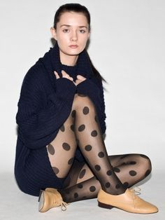 $25 dotted tights