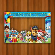 Paw Patrol Photo Booth Frame, Paw Patrol Birthday Prop, Paw Patrol Frame, Paw Patrol Backdrop Prop D Paw Patrol Birthday Decorations, Paw Patrol Birthday Invitations, Paw Patrol Birthday Cake, First Birthday Party Decorations, Party Themes, Mickey Mouse Photo Booth, Mickey Mouse Photos, Photo Frame Prop, Diy Photo Booth