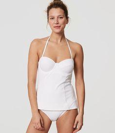 fe12dd2fe1 Primary Image of LOFT Beach Strapless Tankini Top Halter Bikini