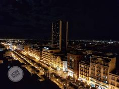 #Night mode: #downtown Tunis seen from above the lively roofs celebrating weekend and every night! #Peace! from #Tunisia by Hassen Lazrek