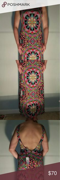 MANDALA SLOAN DRESS PILYQ XS/S Coverup Beatuiful Multicolor low back dress/coverup. This is categorized as a coverup because of material but i think it could be rocked as a dress too. Fits more like a medium. Pilyq Swim Coverups
