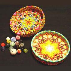 Marbles case perler beads by shimabayashi
