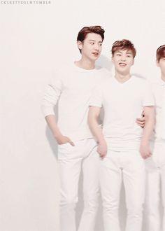 MCM x EXO Collaboration XOXO : Chanyeol tickling Xiumin