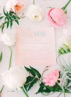romantic paper goods, photo by Blush Wedding Photography http://ruffledblog.com/modern-tropical-wedding-inspiration #papergoods #stationery