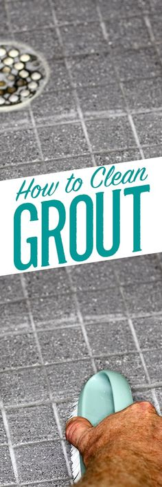 Restoring dingy grout to like-new brightness in your kitchen, bathroom or patio doesn't require harsh chemicals like bleach, ammonia or vinegar - these can damage your grout and actually create more problems than they solve. Simple Green All-Purpose Clean Household Cleaning Tips, Deep Cleaning Tips, Cleaning Recipes, House Cleaning Tips, Green Cleaning, Natural Cleaning Products, Cleaning Solutions, Cleaning Hacks, Cleaning Supplies