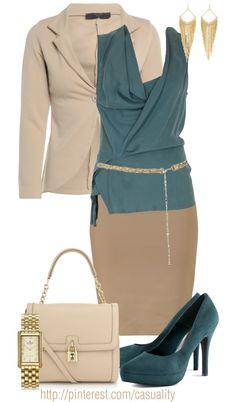 """Teal Business"" by casuality on Polyvore"