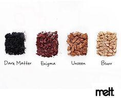 Melt cosmetics DARK MATTER stack Melt Cosmetics, Makeup Tips, Beauty Makeup, Eye Makeup, Caramel Brown, Makeup Essentials, Dark Matter, Make Me Up, Everyday Makeup