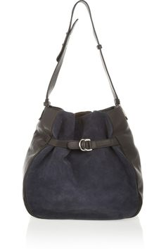 See by Chloé | Augusta leather and suede shoulder bag | NET-A-PORTER.COM