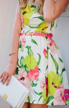 What to Wear for Mother's Day Brunch - Dash of Darling Botanical Fashion, Floral Fashion, Pink Fashion, Colorful Fashion, Retro Fashion, What To Wear To A Wedding, How To Wear, Wedding Guest Style, Ted Baker Dress