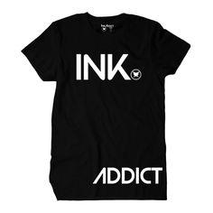 InkAddict Black T Shirt Mens INK ADDICT #inkaddict #ink #tattoo #painfulpleasures #fashion #tattoofashion #tattooinspiredfashion #clothing #tshirts
