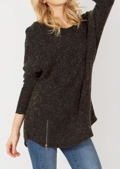 ZIP FLY SWEATER