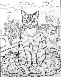 Best Coloring Books for Cat Lovers | Adult coloring, Coloring books ...