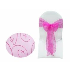 Embroidered Chair Sash - Fushia | Wedding Superstore | Large range direct from the importer