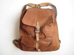 I need a leather backpack.