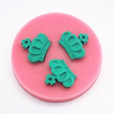 Longzang Crown Art Deco Silicone Mold Sugar Craft DIY Gumpaste Cake Decorating Clay Pink * Click on the image for additional details.