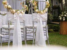 Decoración para sillas del matrimonio