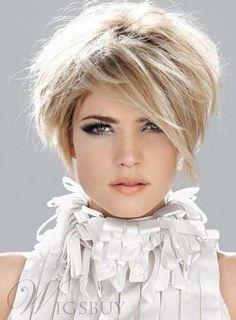 $14.48 - Fluffy Short Straight Monofilament Top Womens Wig Cos #ebay #Fashion
