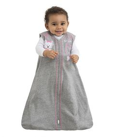 Another great find on #zulily! Gray & Pink Puppy Treat SleepSack by Halo #zulilyfinds