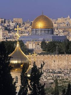 Metal Print: Dome of the Rock, Temple Mount, Jerusalem, Israel by Jon Arnold : 16x12in