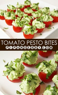 Tomato Pesto Bites | The perfect little finger food! An explosion of YUM in a single bite!