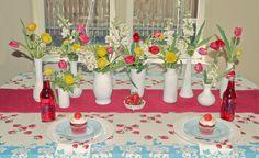 Faux Milk Glass Vases..