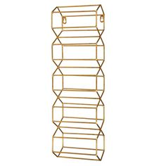 Gold Metal Wine Rack from Lone Elm Studios is a unique way to showcase your wine collection in your kitchen or dining room. Open Wine Without Corkscrew, Wall Hanging Wine Rack, Wall Mounted Wine Racks, Wine Racks For Sale, Wood Wine Racks, Bottle Wall, Wine Collection, Wine Refrigerator, Art Deco Home