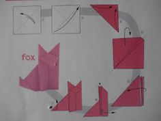 fox in socks dr. seuss themed origami