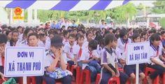 Cho thuê Dù che nắng-Lễ tiếp nhận và trao tặng 2000 xe đạp tại Sóc Trăng