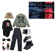 """pinche rich"" by pallo ❤ liked on Polyvore featuring Fergalicious, Stussy, Chicnova Fashion, Kenzo, Zara, Ray-Ban, HOT SOX, Accessorize and Miu Miu"