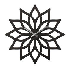 An extra large, modern lotus design wall clock that really makes a statement. Great for over the fireplace or a feature wall. The clock is laser cut using birch plywood. Available in natural with a matte polyurethane, or water based matte brown or black stain. It is 23 in diameter and