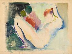 Arthur Beecher Carles (American, 1882–1952), Reclining nude, n/d. Monoprint, 10.38 x 13.25 in. (26.4 x 33.7 cm.)