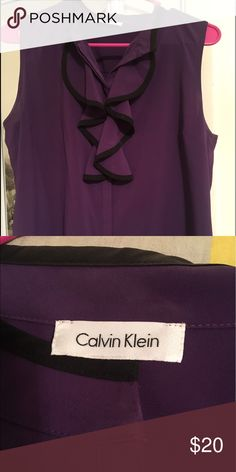 Women's Calvin Klein blouse Only worn maybe twice!  Size medium but fits on the small side. Calvin Klein Tops Blouses