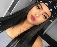 Bandana Hairstyles, Baddie Hairstyles, African Hairstyles, Glam Makeup, Hair Makeup, Estilo Chola, Chola Style, Synthetic Lace Wigs, Tumbrl Girls