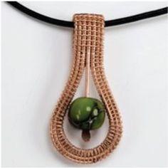 DIY Bijoux  woven pendant Wire Jewelry Tutorials