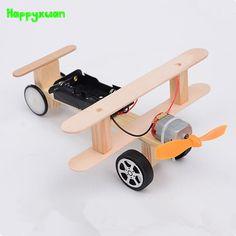 $17.37 - Cool Happyxuan DIY Wind Power Glide Plane Model Kit Wood Kids Physical Science Experiments Toy Set Preschool Educational - Buy it Now!