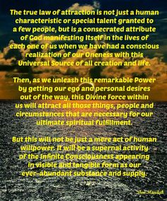 The true law of attraction is not just a human characteristic