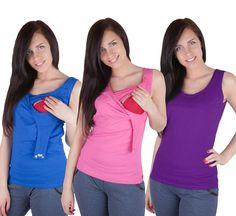 Essential Maternity Pregnancy nursing breastfeeding Top Shirt Vest Blouse Cami