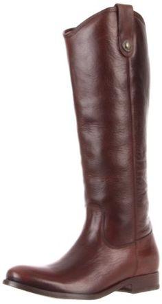 FRYE Women's Melissa Button Knee-High Boot, Dark Brown Soft Vintage Leather,  5.5 M US FRYE