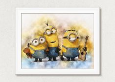 Minions Print Poster Despicable Me Minions Wall Art Decor Kids Room Wall Art, Wall Art Decor, Nursery Decor, Wall Art Prints, Poster Prints, My Minion, Minions, Printing Services, Online Printing